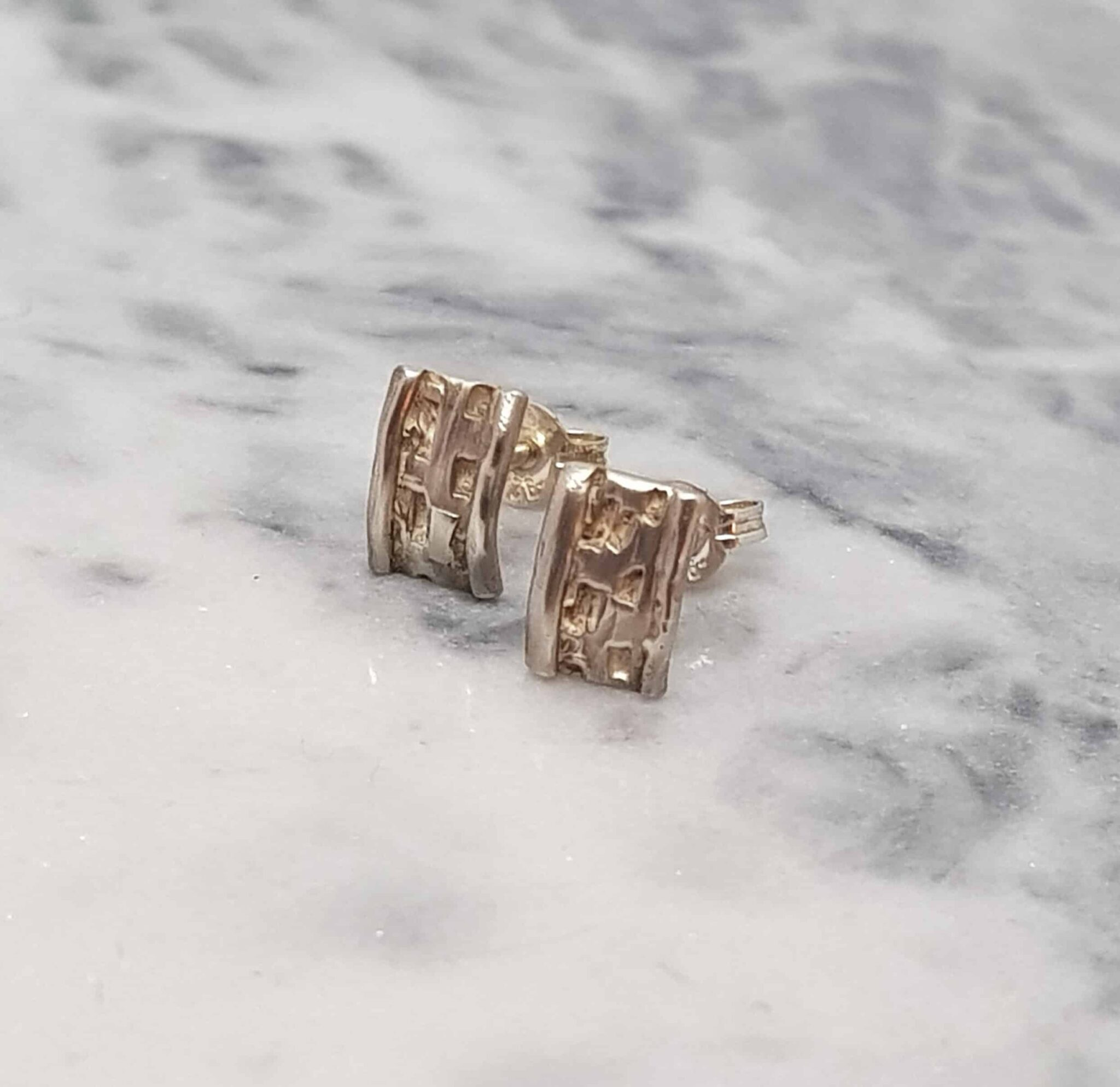 Sterling Silver Textured Studs By Corinne Lomon