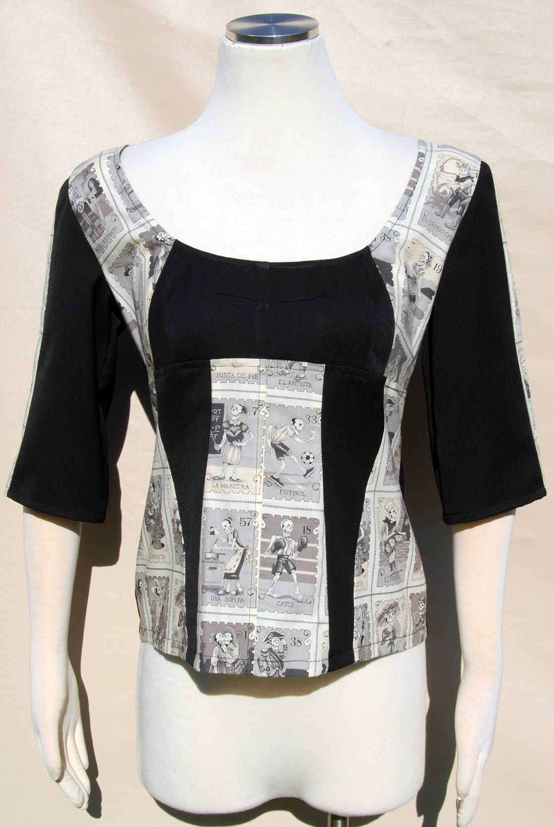Panelled Stamp Skeleton Top By Jezenya Designs