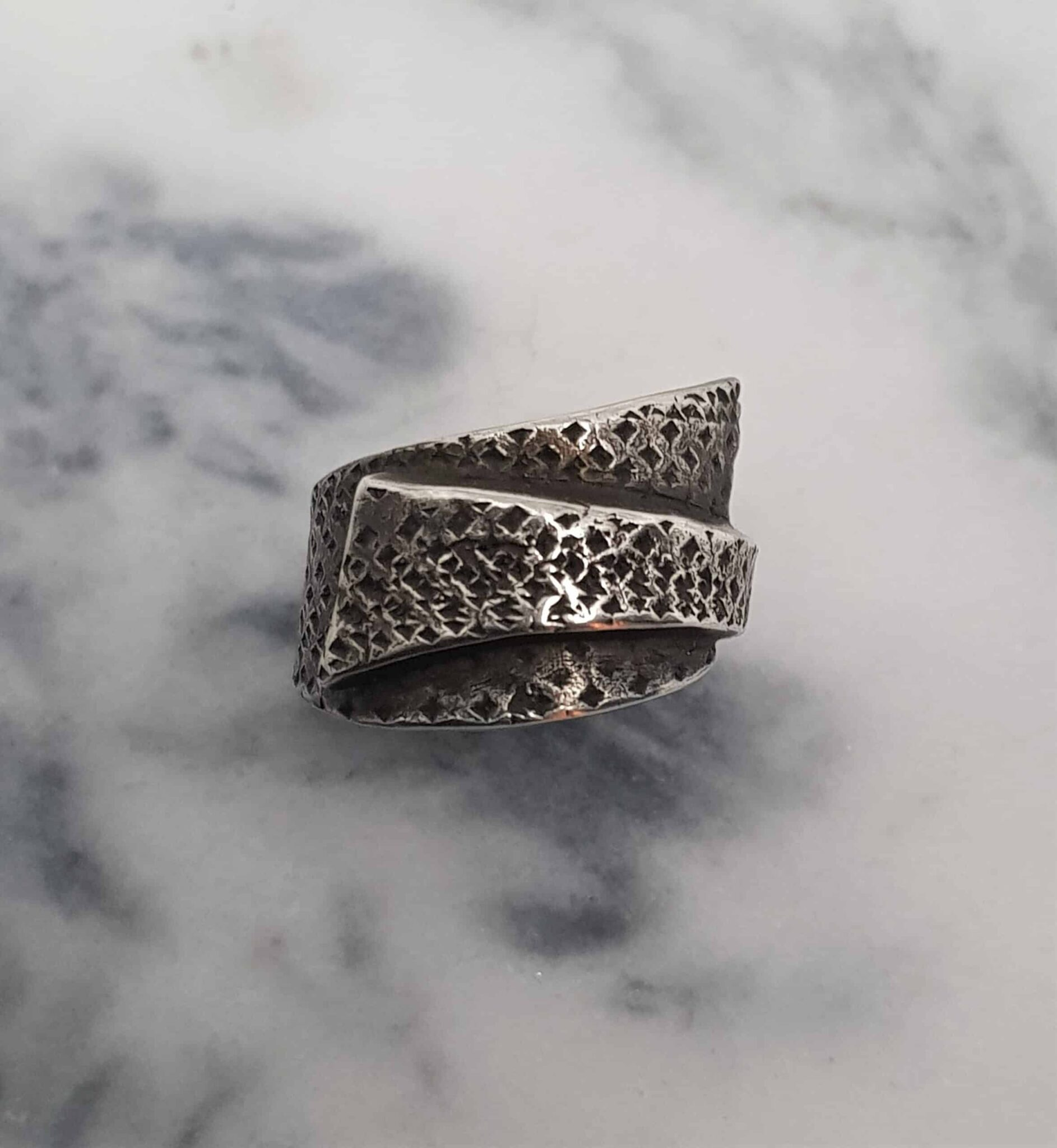 Simple Textured Wrapped Ring Size N By Corinne Lomon
