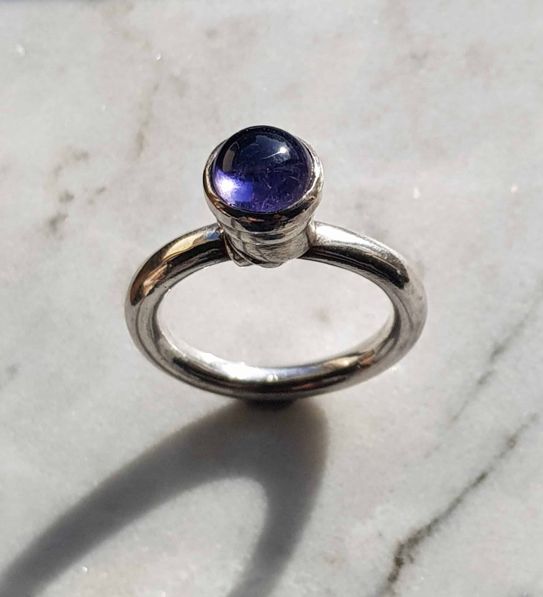 Periscope Silver Ring With Set Iolite – By Corinne Lomon