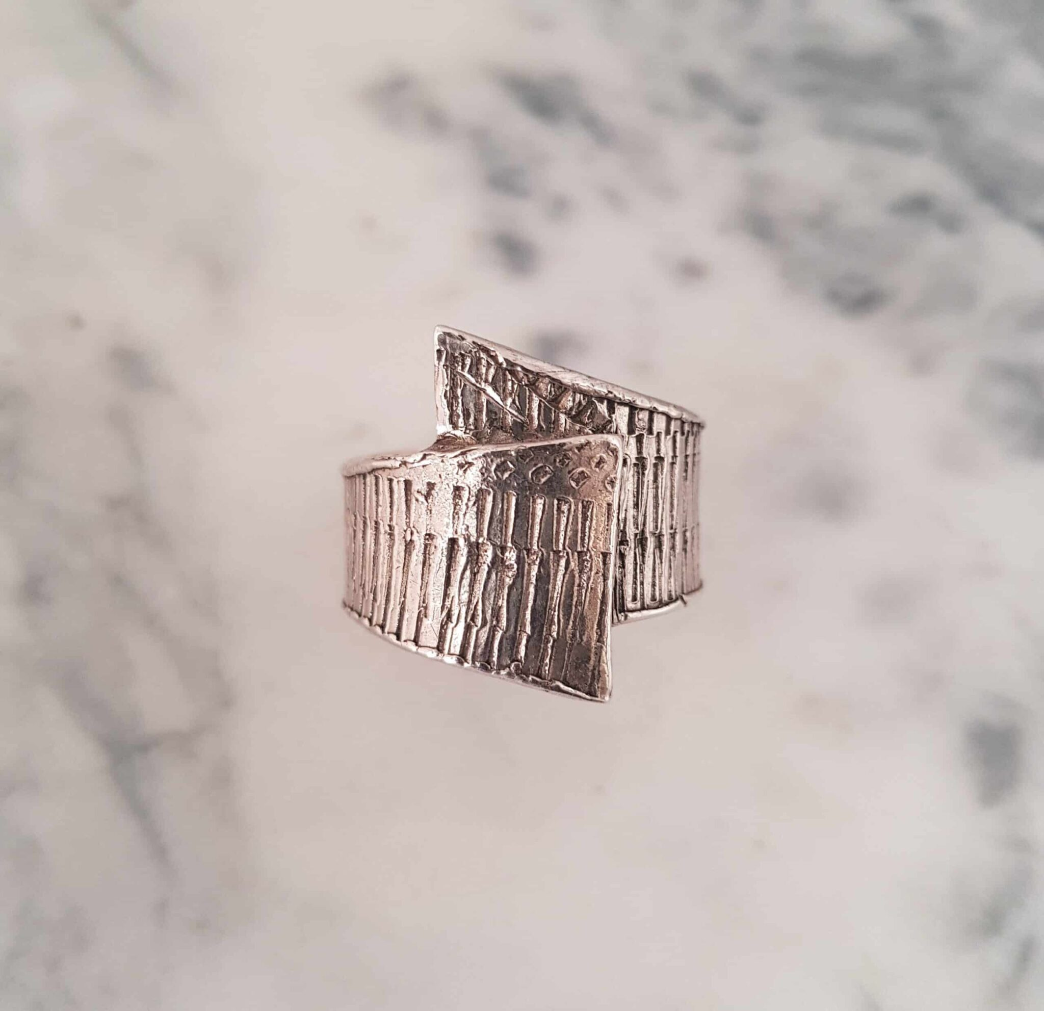 Simple Textured Wrapped Ring Size Y By Corinne Lomon