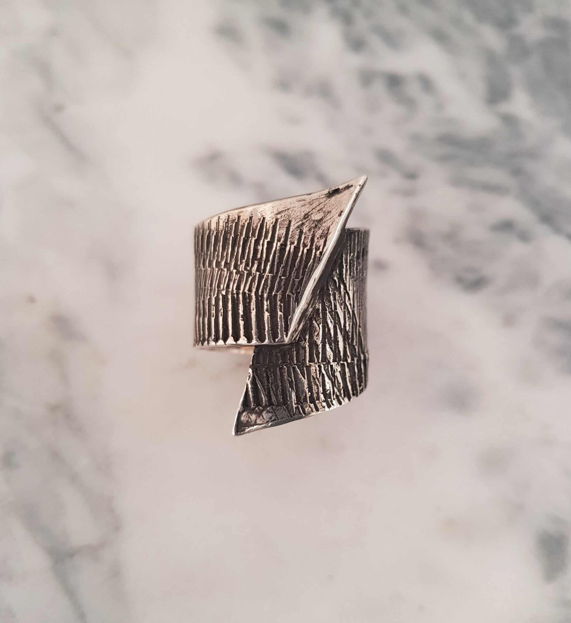 Simple Wrapped Textured Ring Size V By Corinne Lomon
