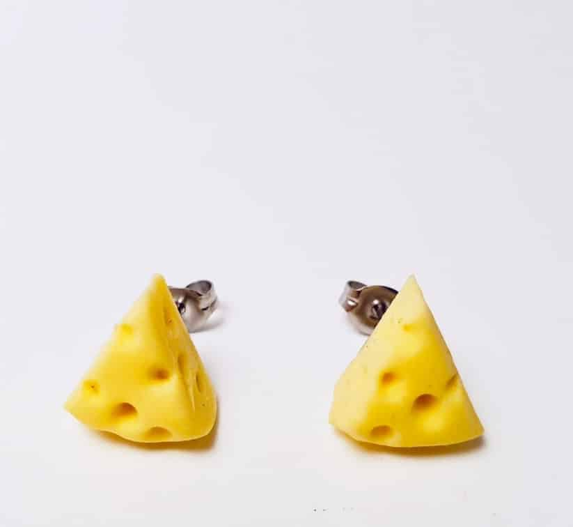Blocks Of Chedder Cheese Earrings By Kate And Rose (Fitzroy) $14.95