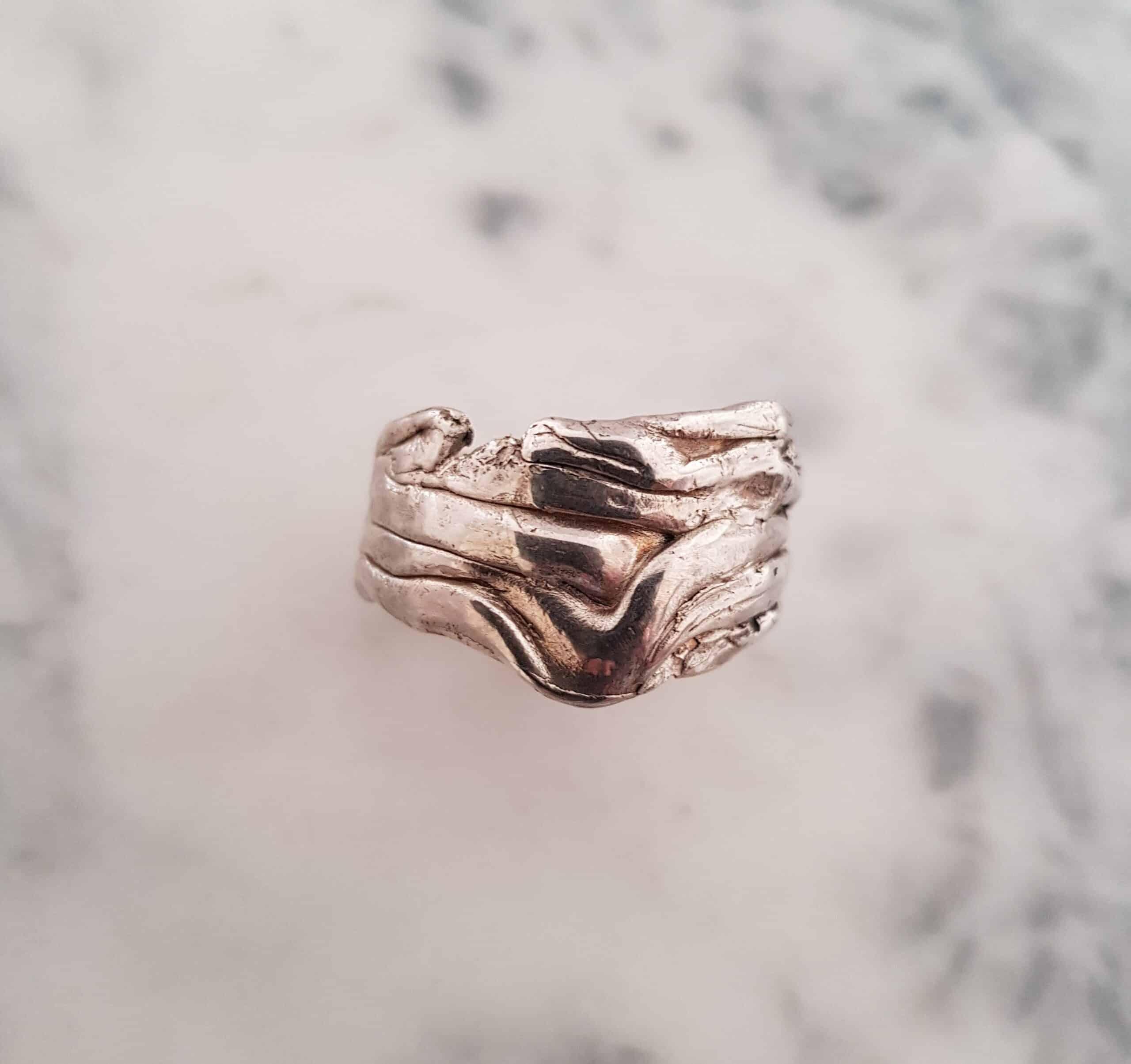 Size U Small Crumple Ring  – By Corinne Lomon