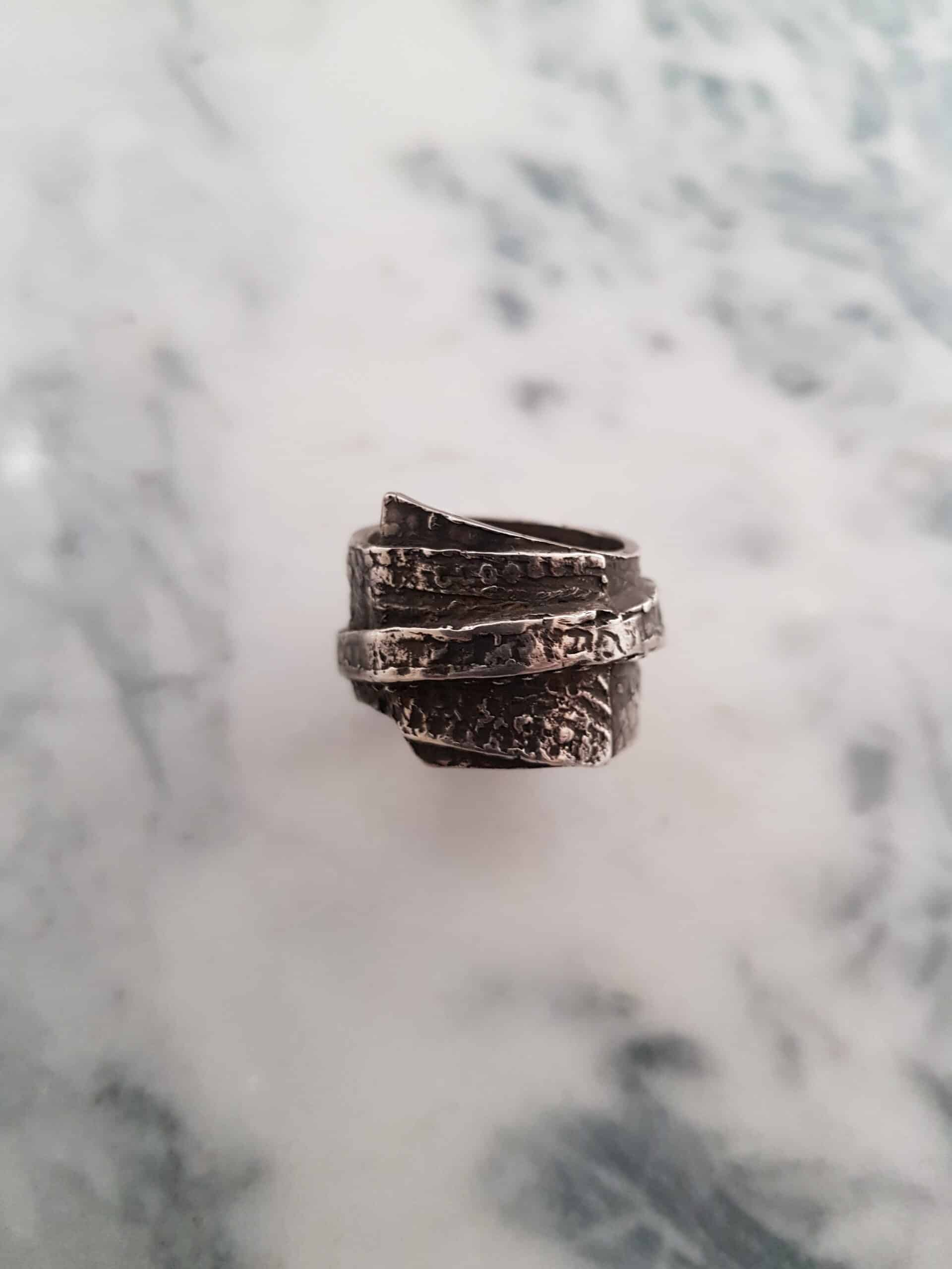 Layered Texture Ring In Size S By Corinne Lomon