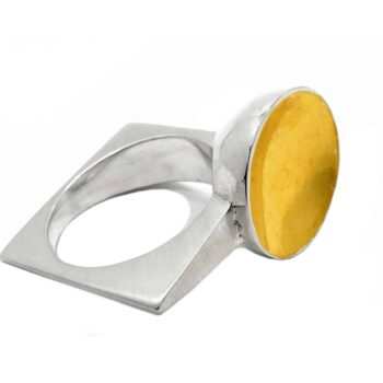 tamaya-ring-size-m-sterling-silver-ring-with-24-carat-gold-foil-by-r-process-976077-remyhoglin