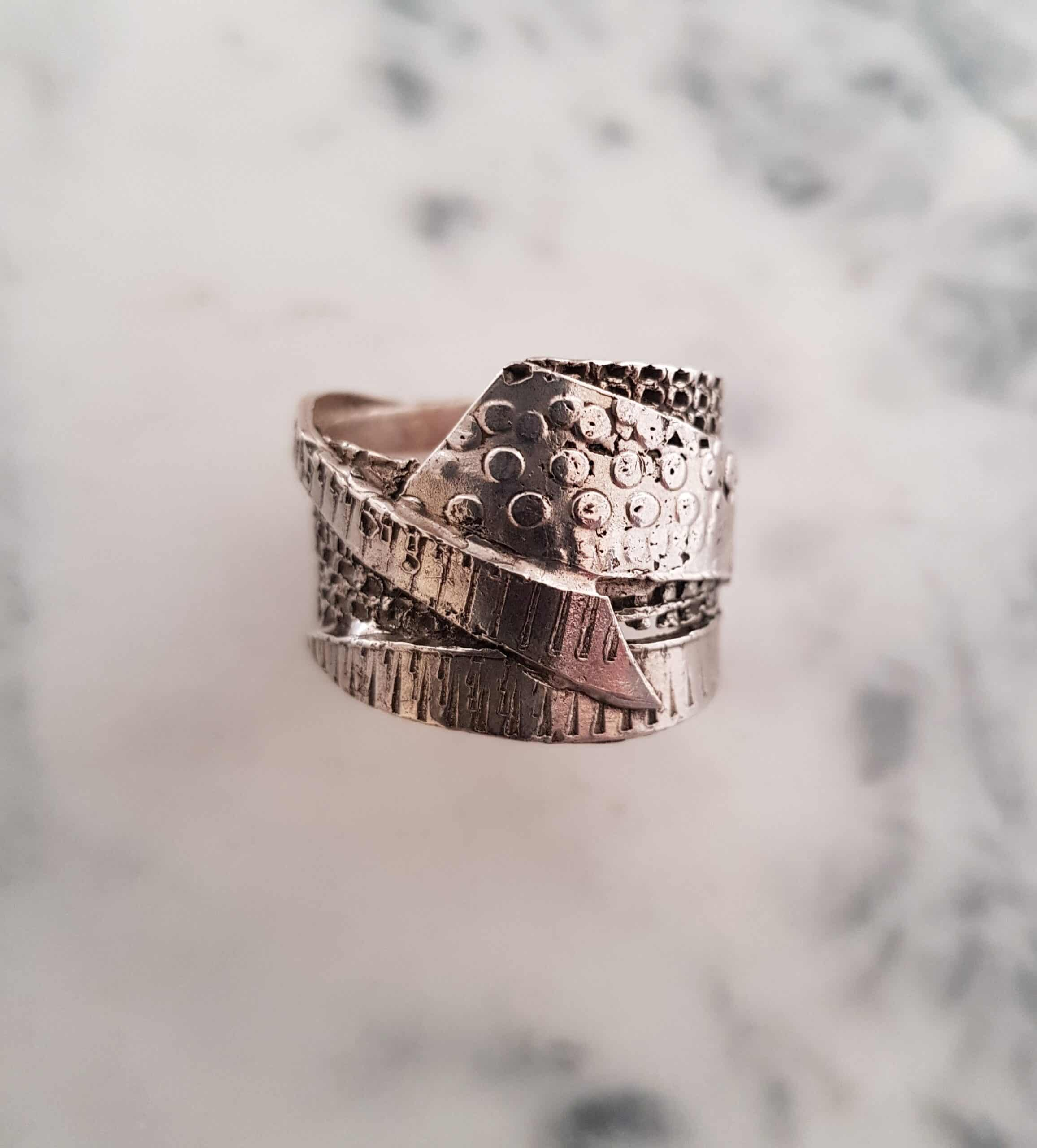 Wrapped Textured Ring Size Z 165 – By Corinne Lomon