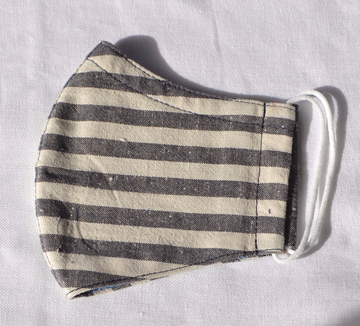Face Mask (Stripes) Made From Natural Fabrics By à Pois