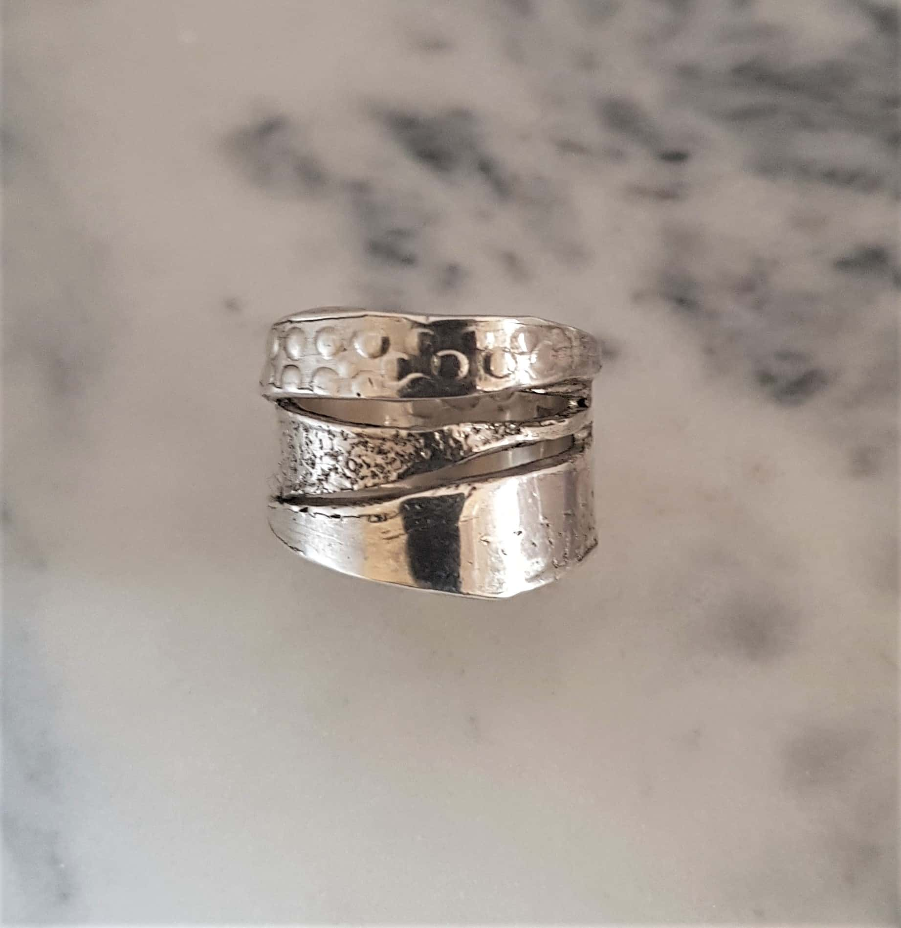 Textured Wrapped Ring By Corinne Lomon