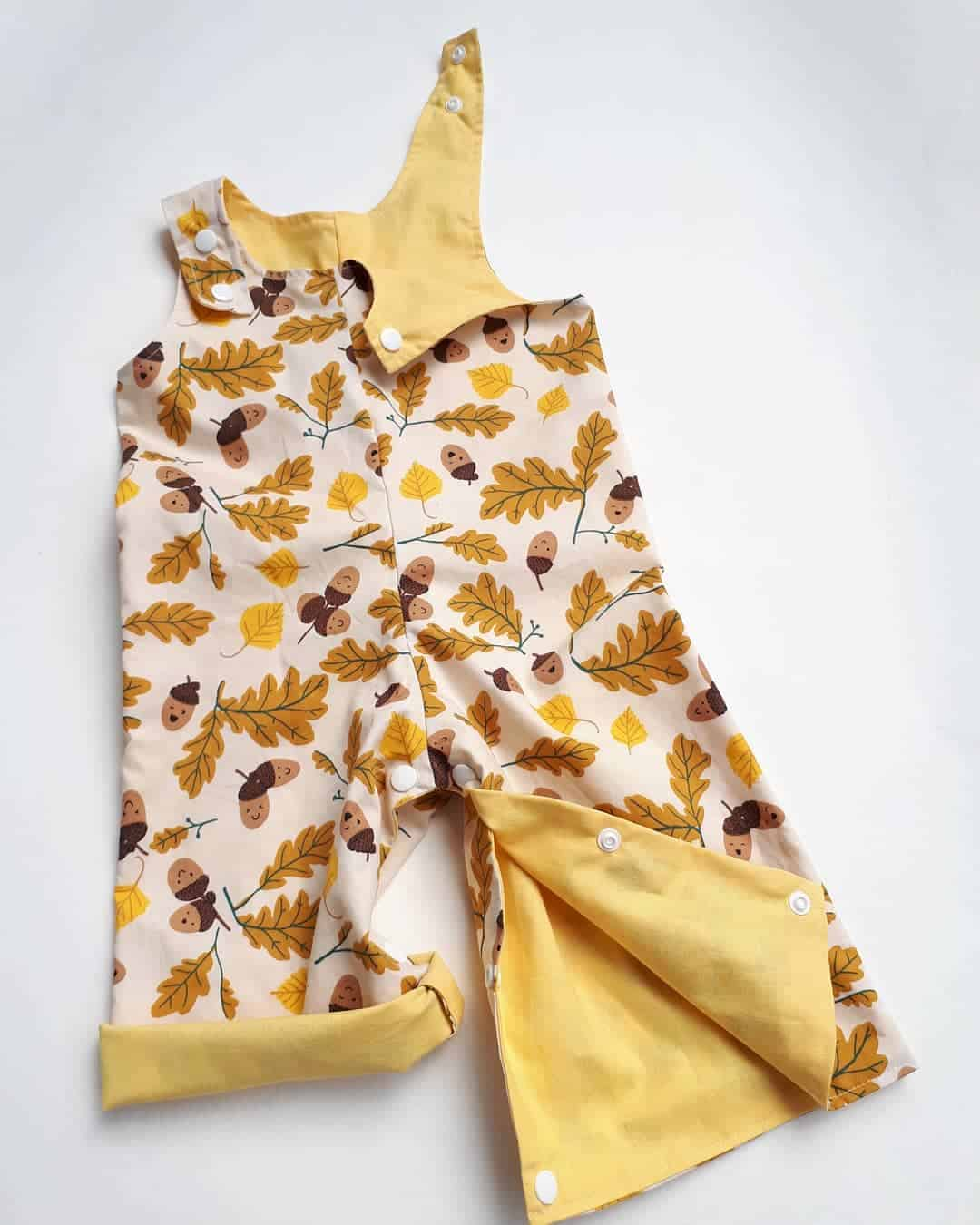 Children's Size 00 Overalls Acorns By St David Studio 3065