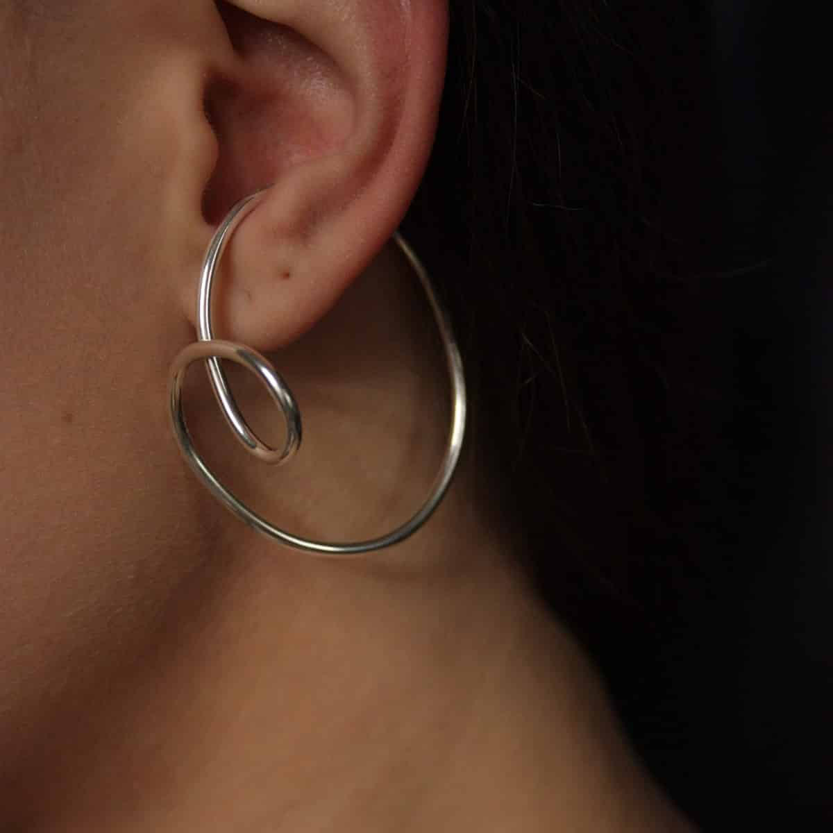 Dynasty Ear Cuffs In Recycled Argentium Silver By Little Hangings