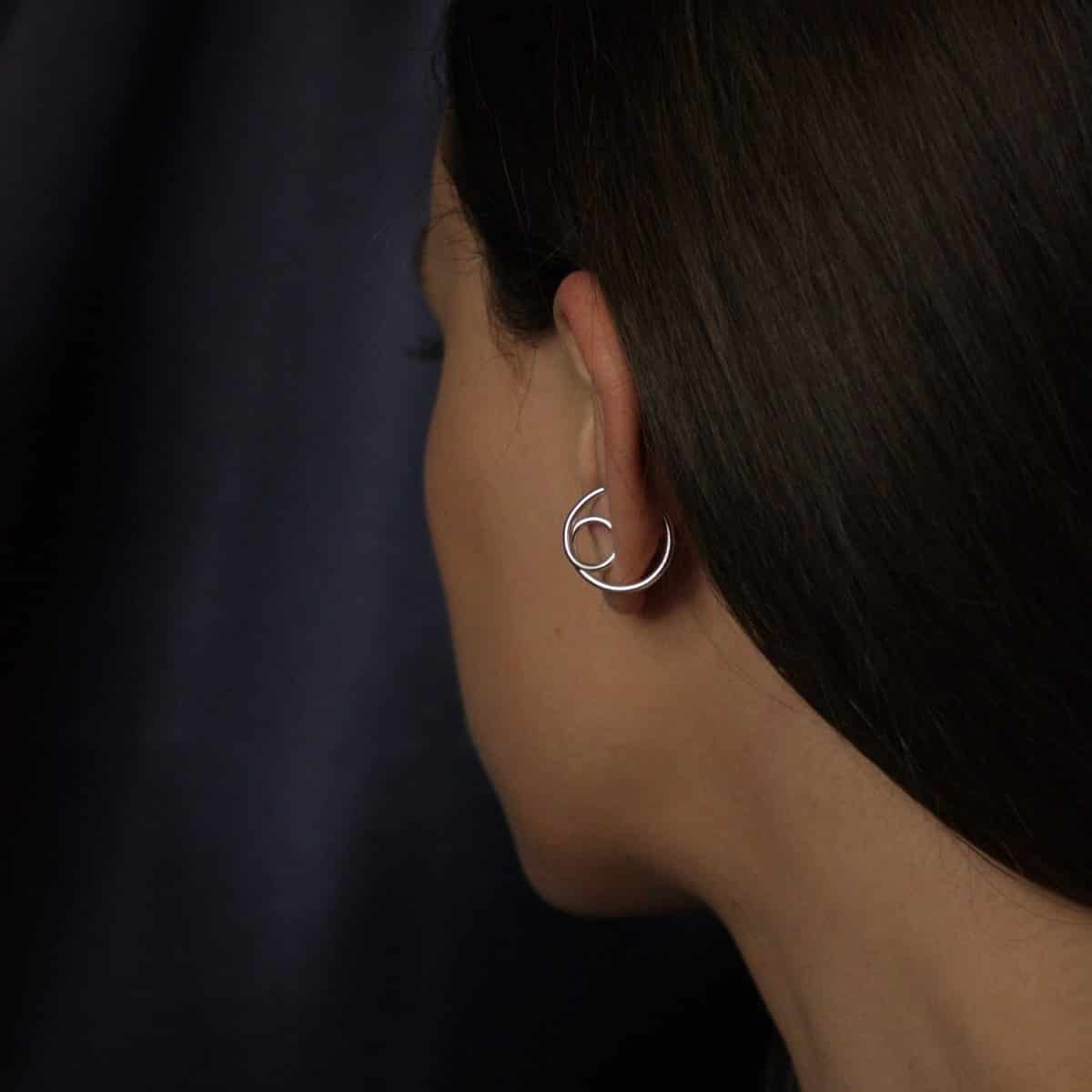 Elevate Ear Cuff In Recycled Argentium Silver By Little Hangings