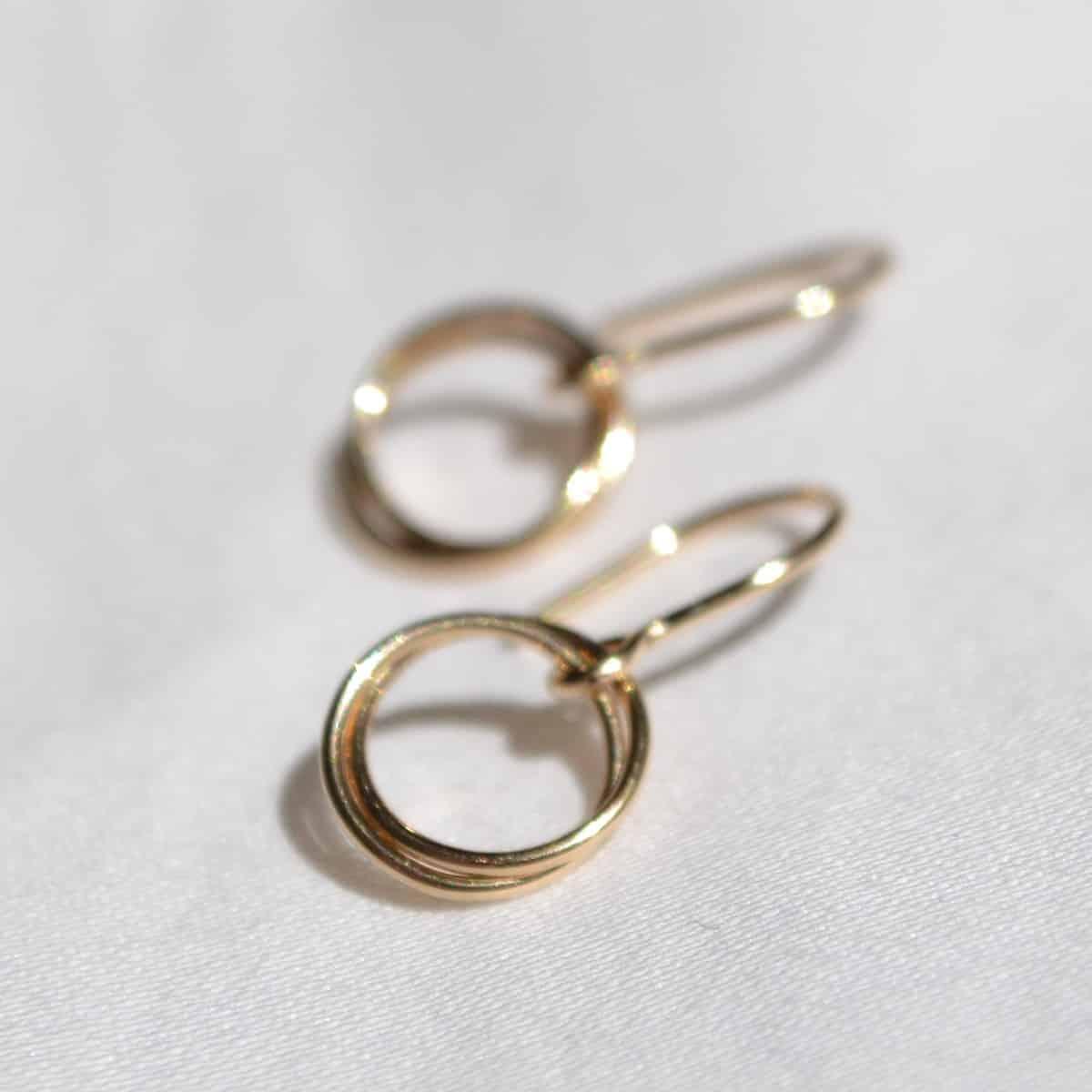 Serenade Earrings In 14k Gold Filled By Little Hangings