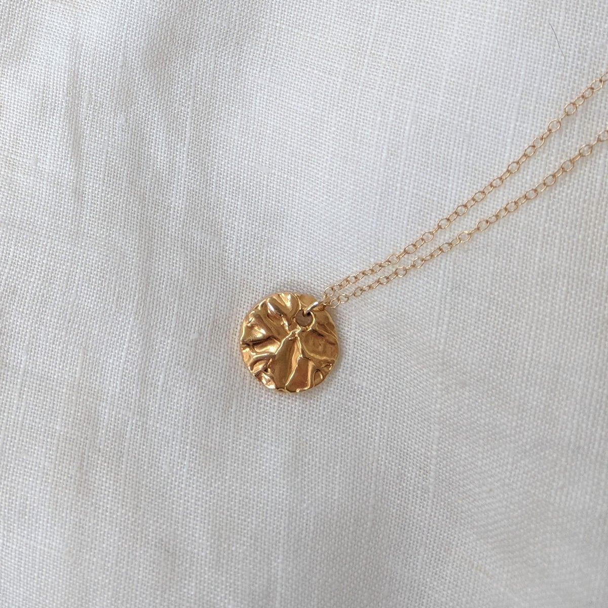 Tide Pool Necklace In Gold Plated Silver By Little Hangings