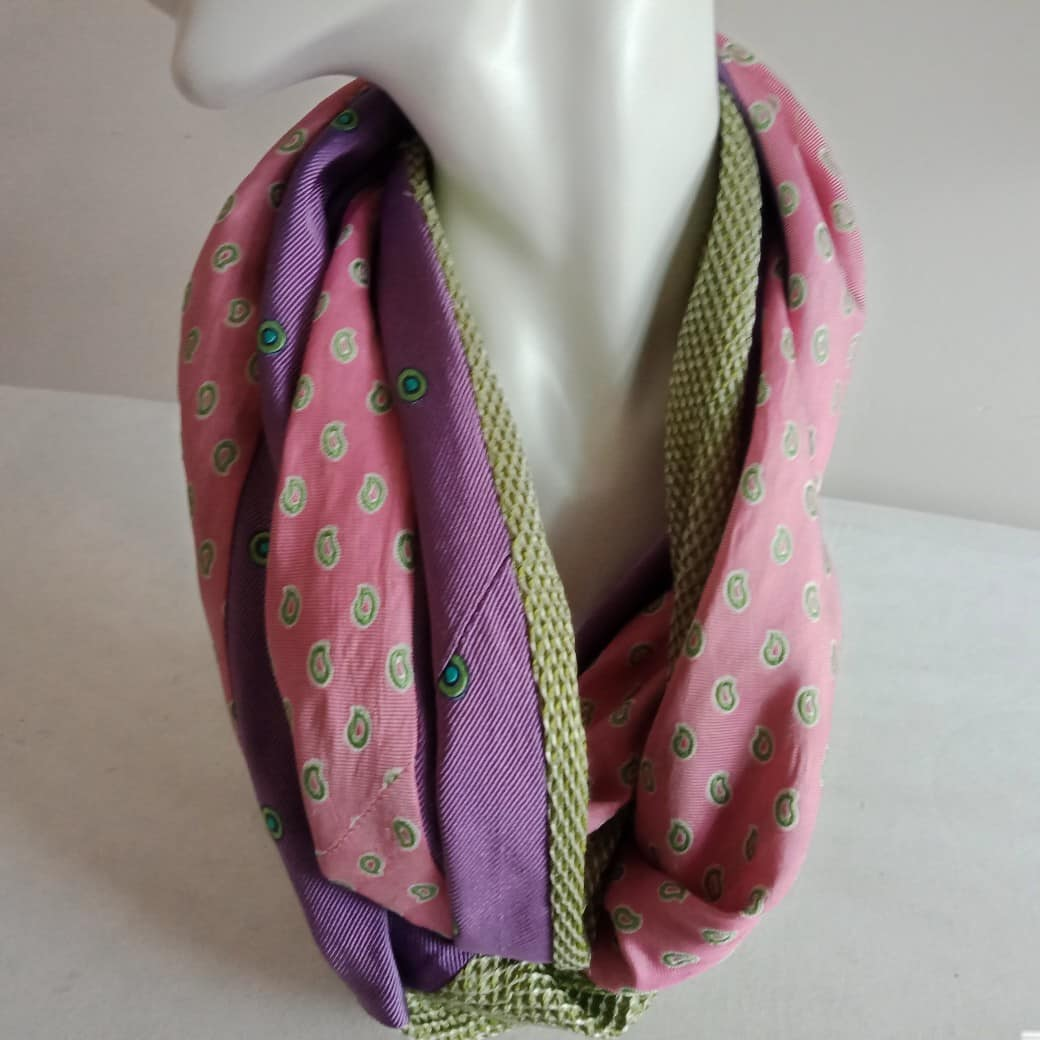 Silk-infinity-scarf-in-green-pink-and-mauve-loop-approx-120cm-handcrafted-from-upcycled-ties-by-judith-scott-177272-judithscott