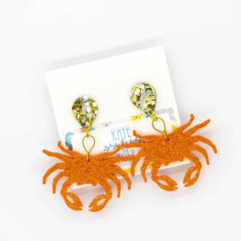 large-resin-orange-crabs-with-large-gold-and-silver-drops-earrings-by-kate-and-rose-prahran-912340-katenrosetea