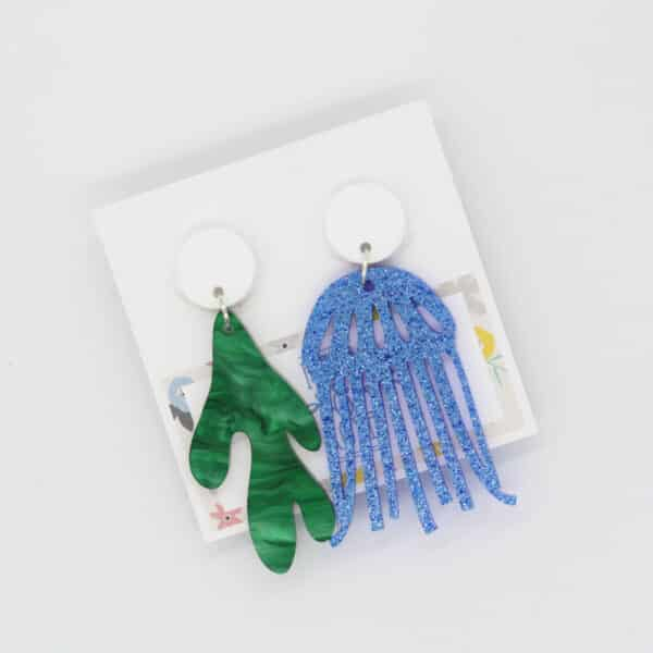 large-blue-jelly-fish-with-seaweed-and-rainbow-drops-earrings-by-kate-and-rose-prahran-912347-katenrosetea