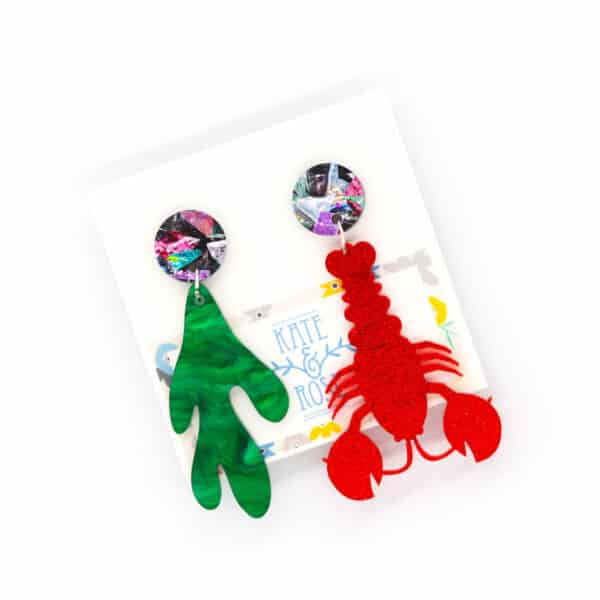 large-resin-red-lobster-with-seaweed-and-drops-earrings-by-kate-and-rose-prahran-912343-katenrosetea