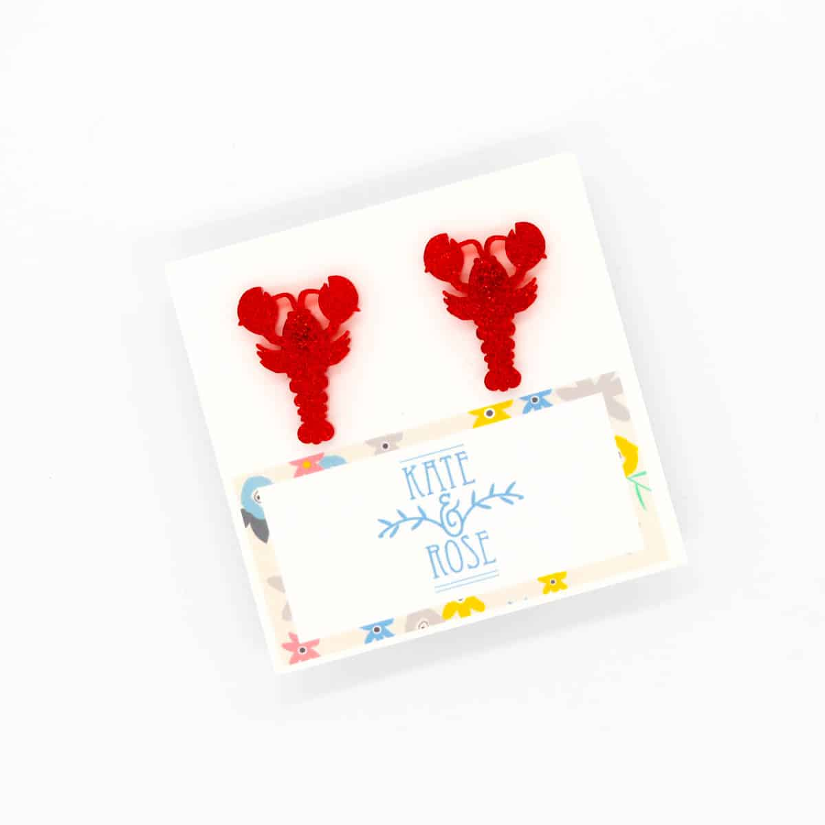 Small Lobster Earrings By Kate And Rose $16.95