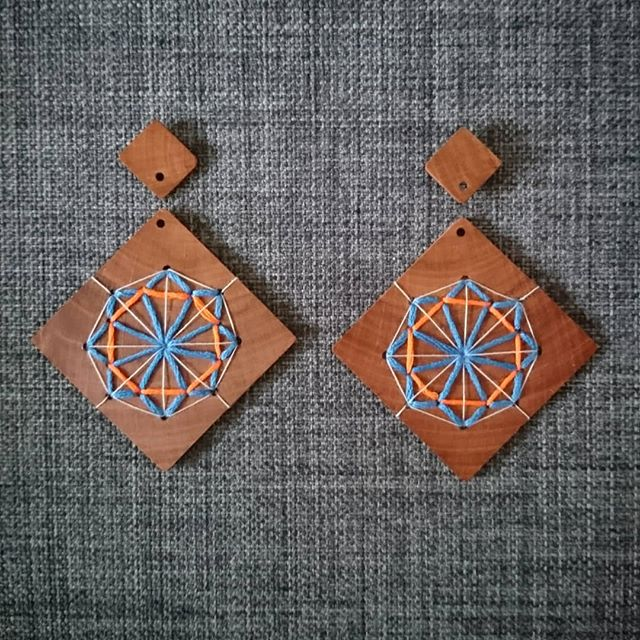 Recycled Timber Earrings – Ferris Wheels By CO'B By Design