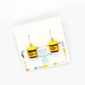 Vegemite drop earrings by Kate and Rose (Fitzroy)