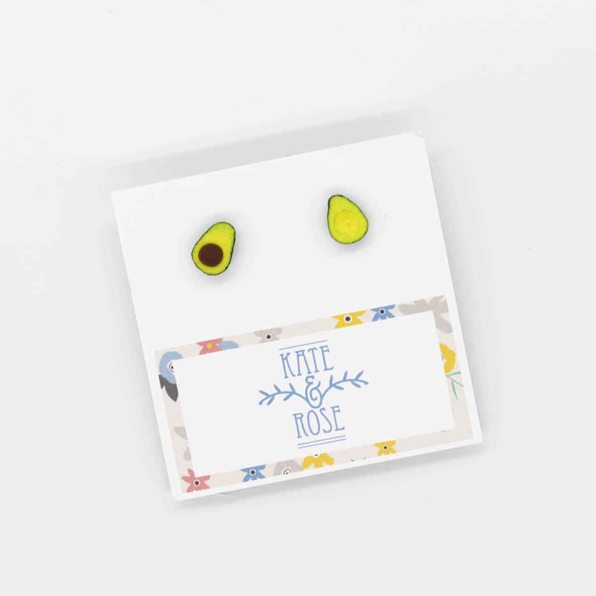 Avocado Half Earrings By Kate And Rose