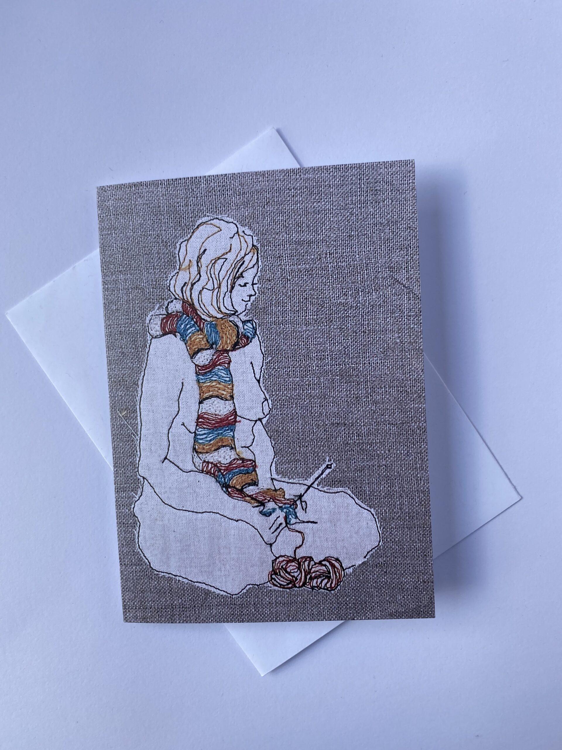 Card: The Knitter By  Juliet D Collins (Prahran)