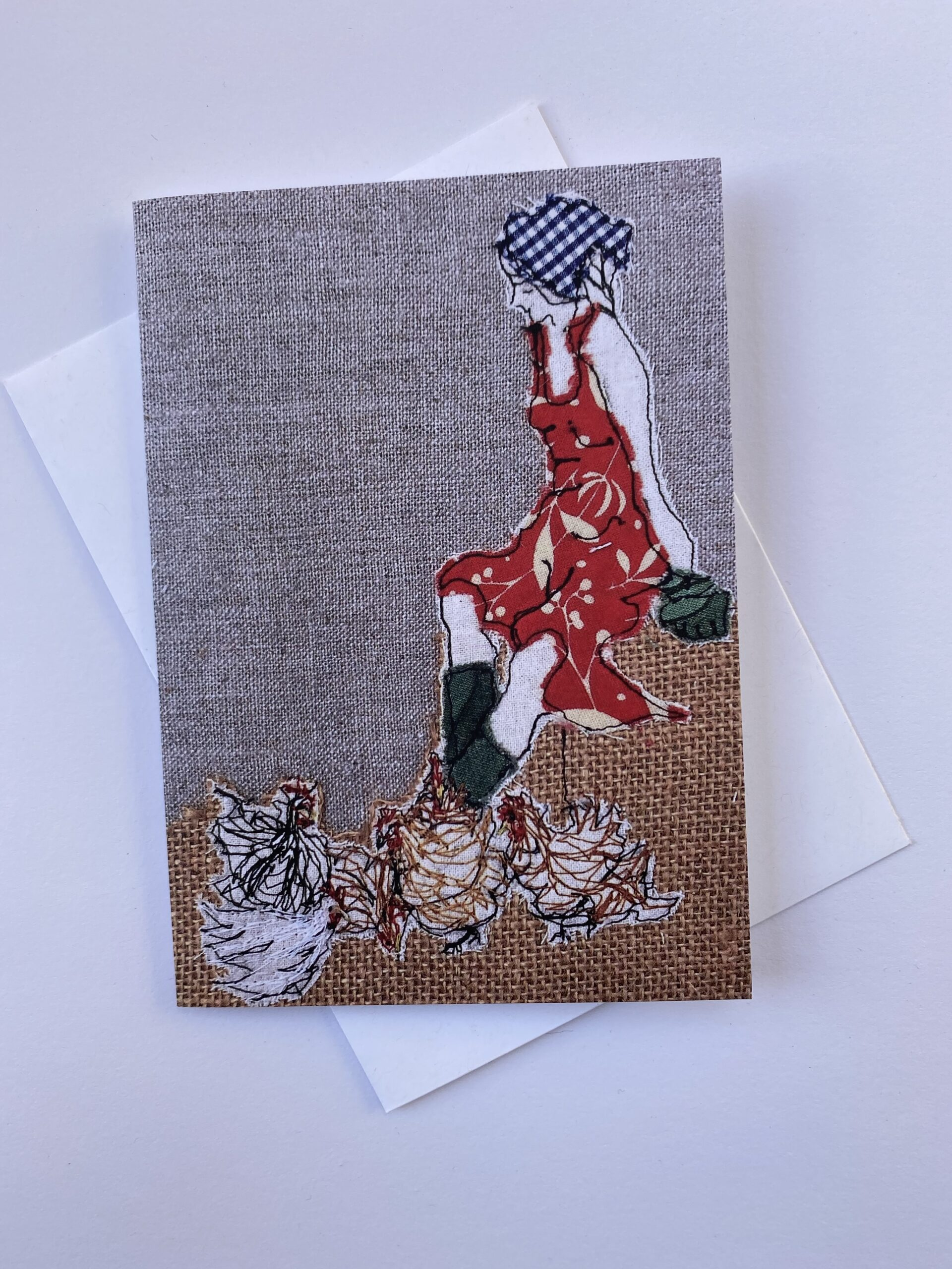 Card: Mistress Of The Chickens (red) By  Juliet D Collins (Prahran)