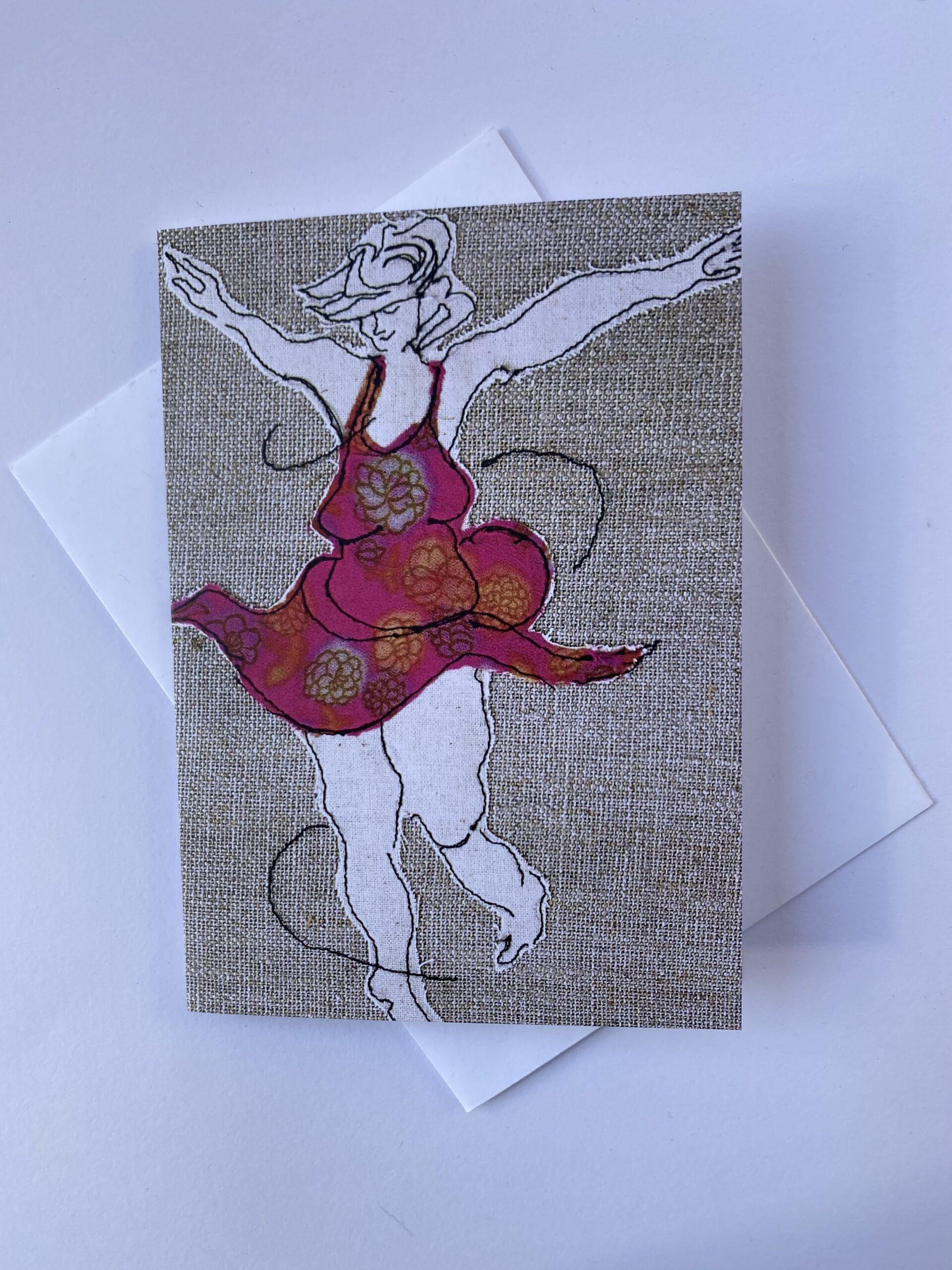 Card: Dancing Queen (pink) By  Juliet D Collins (Prahran)