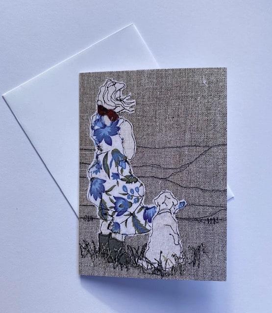 Card: Shepherdess (blue) By  Juliet D Collins (Prahran)