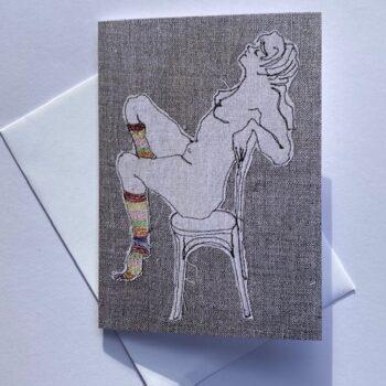 card-ms-stripey-socks-2-by-juliet-d-collins--julietdcollins