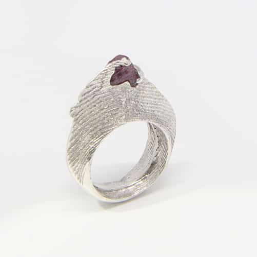 Cuttlebone Cast And Ruby Ring By TLH Inspired