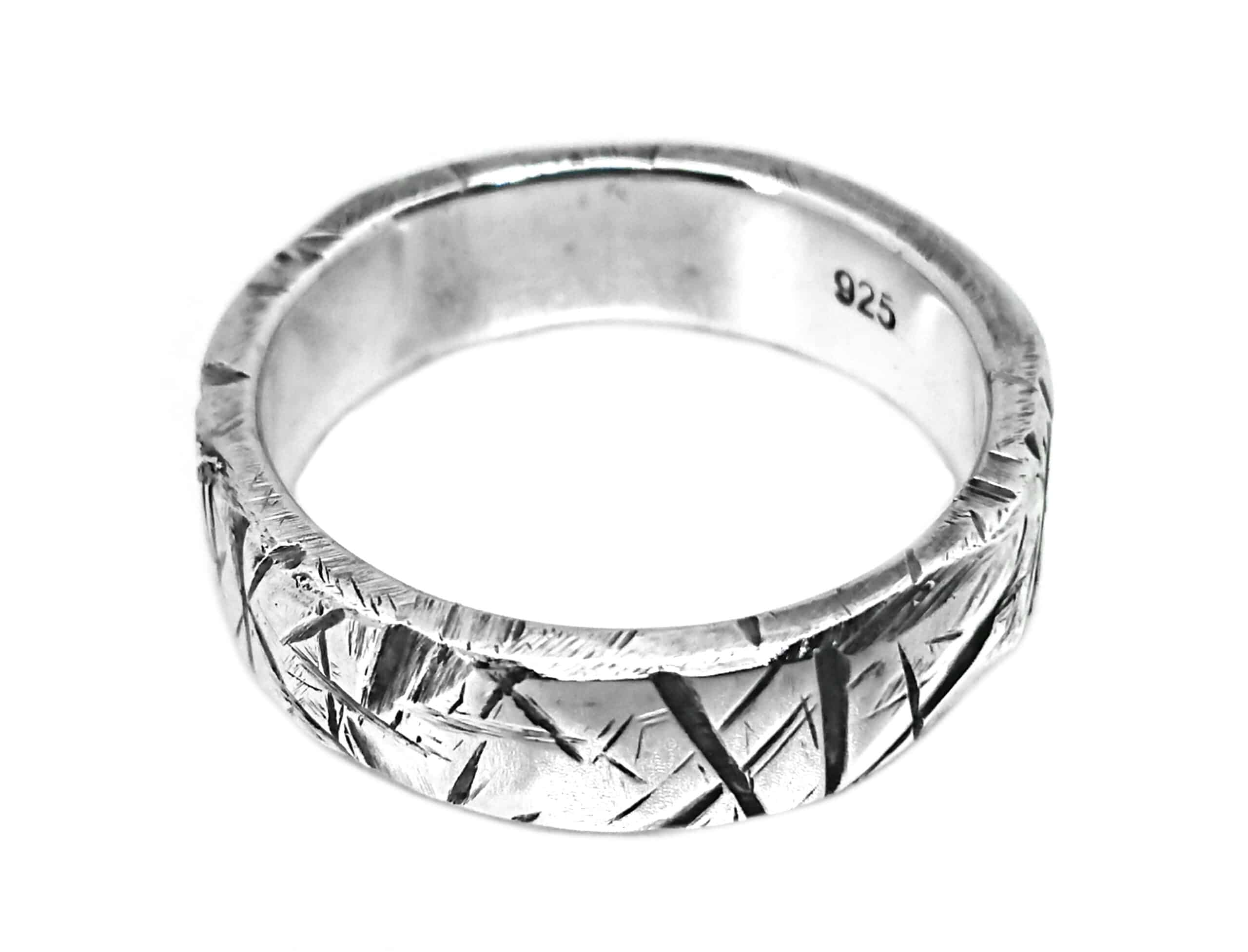 Meteor Ring, Sterling Silver, Size S By R-Process