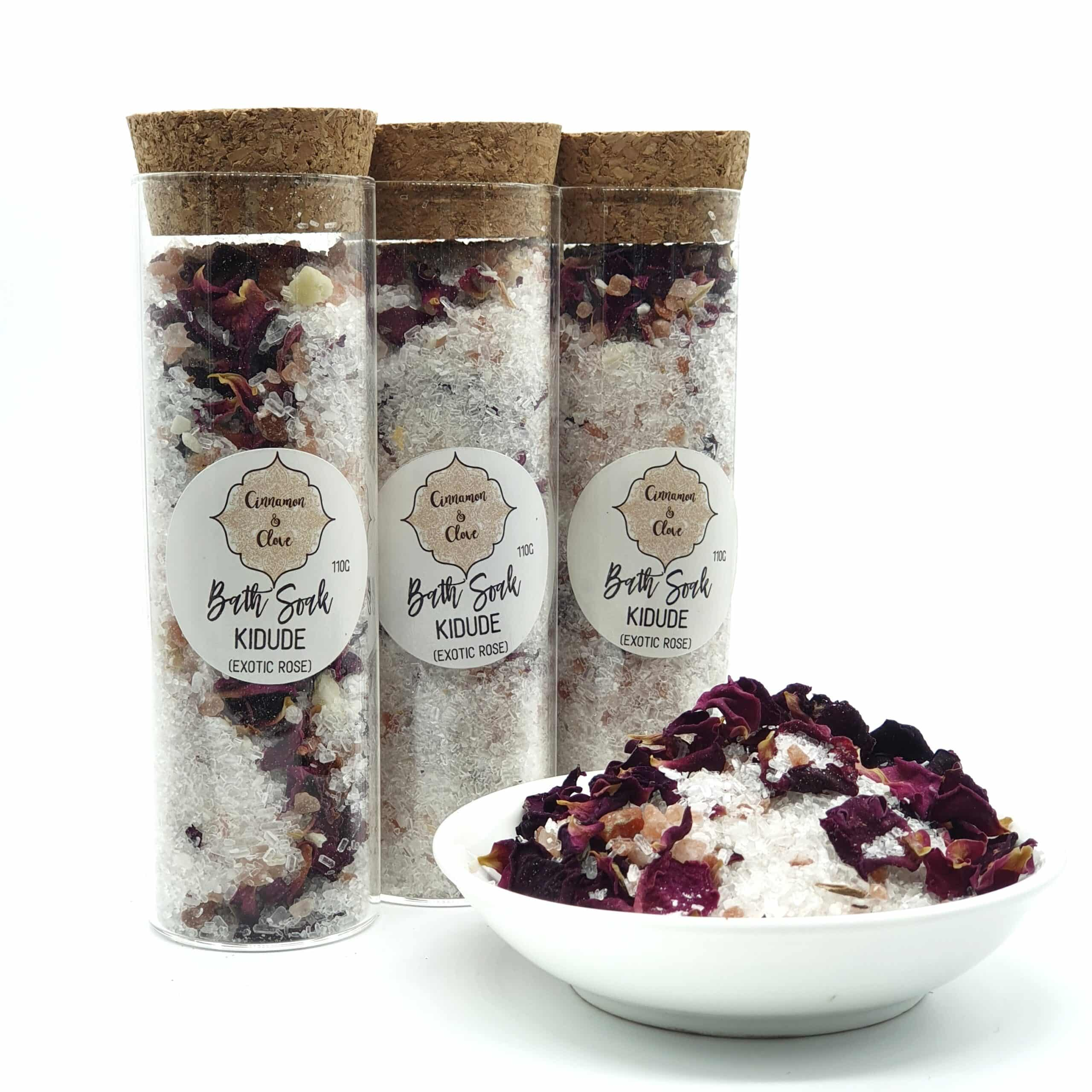 Luxurious Bath Soak With Cacao Butter And Essential Oils – Kidude (Exotic Rose) By Cinnamon And Clove (Prahran)