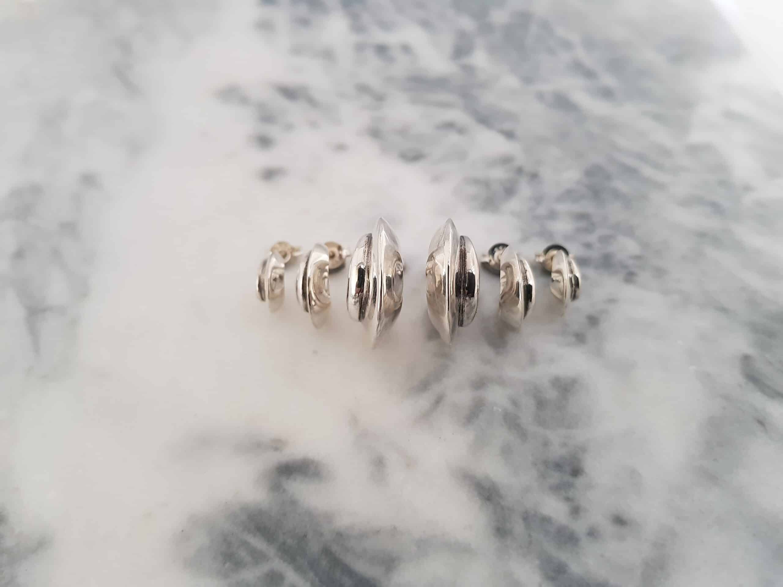Earrings Arc Studs Polished Large By Corinne Lomon