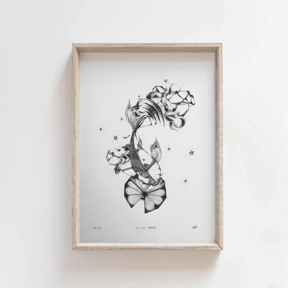 Creases: To Let Go – By Jocelin Meredith Artwork