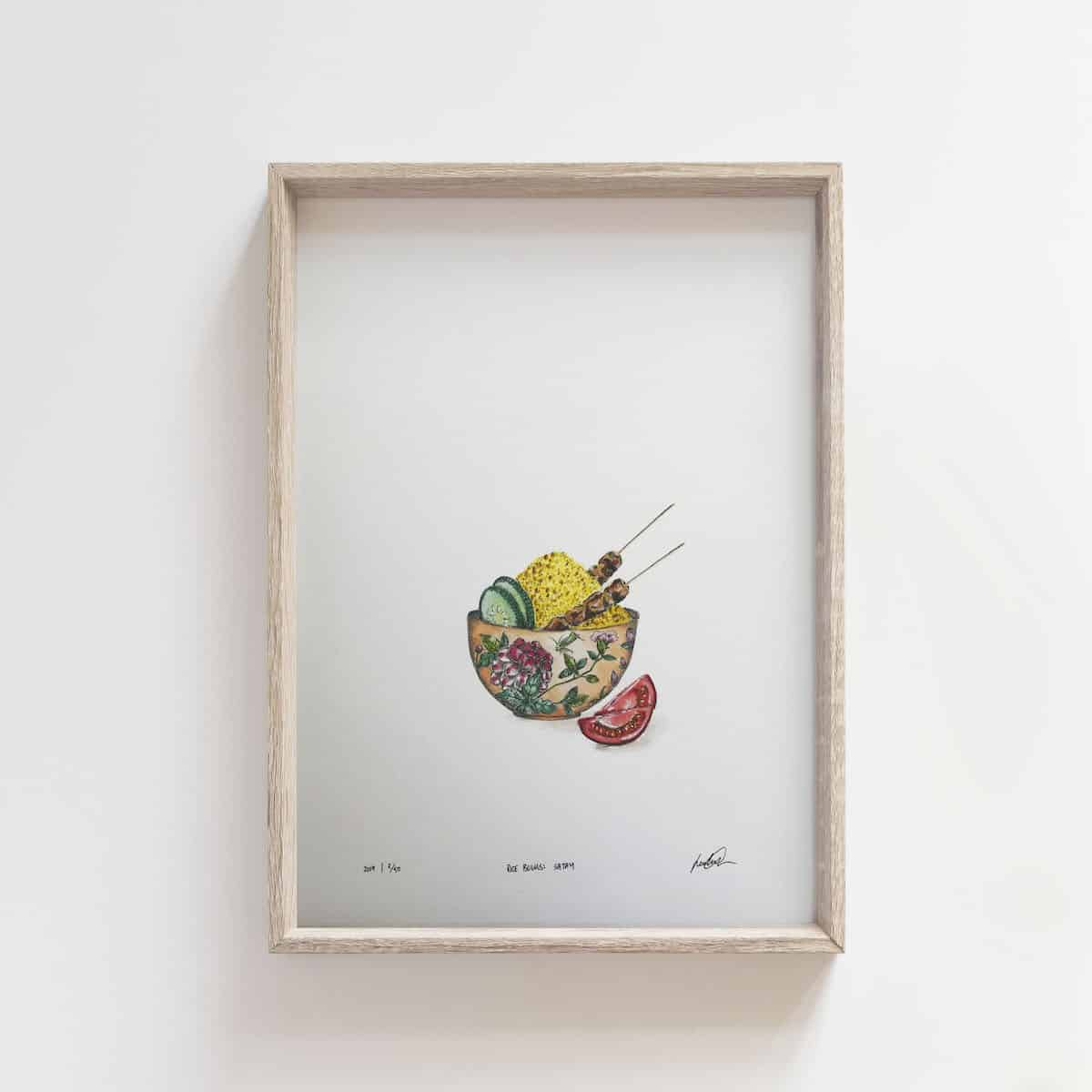 Rice Bowls: Satay – By Jocelin Meredith Artwork