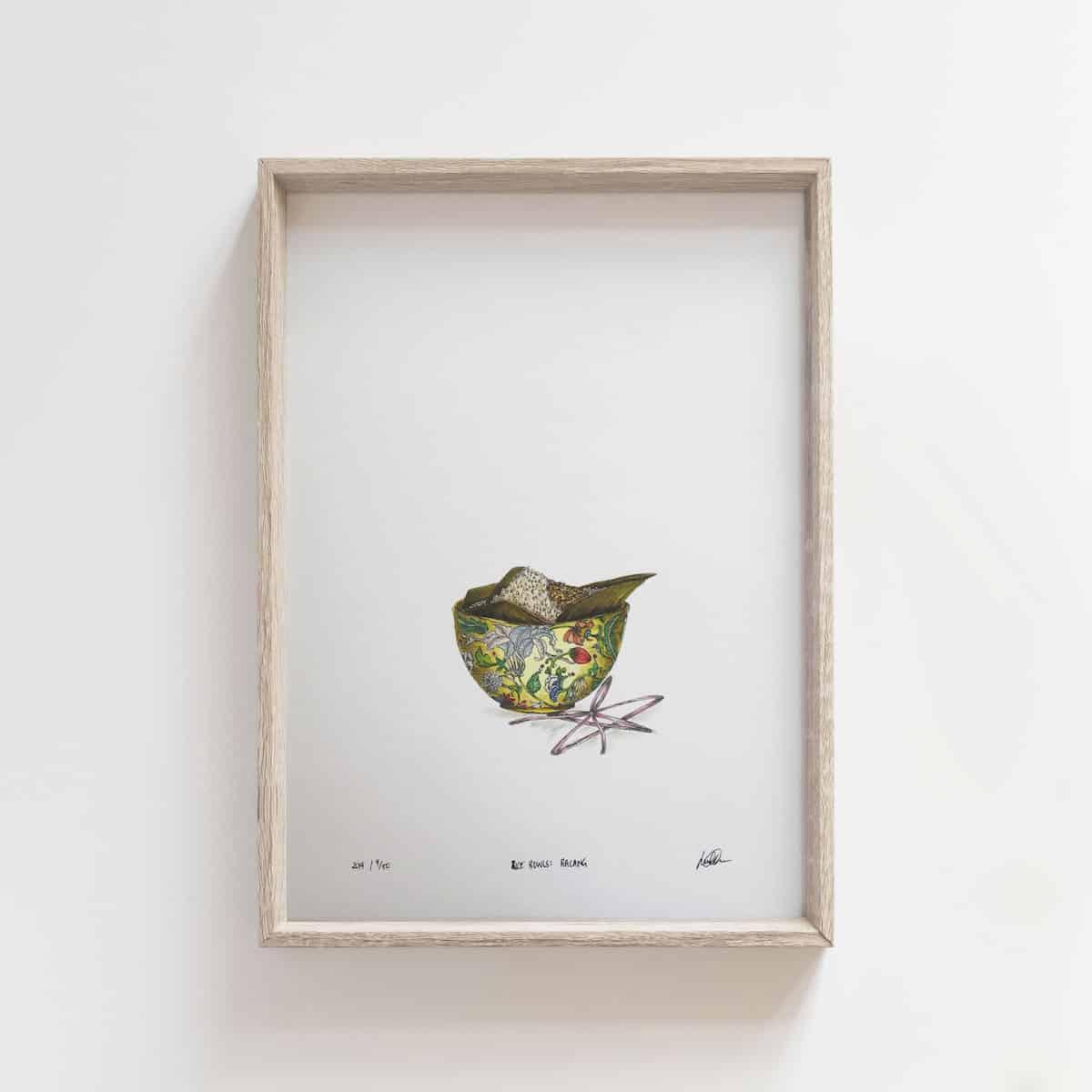 Rice Bowls: Bacang – By Jocelin Meredith  Artwork