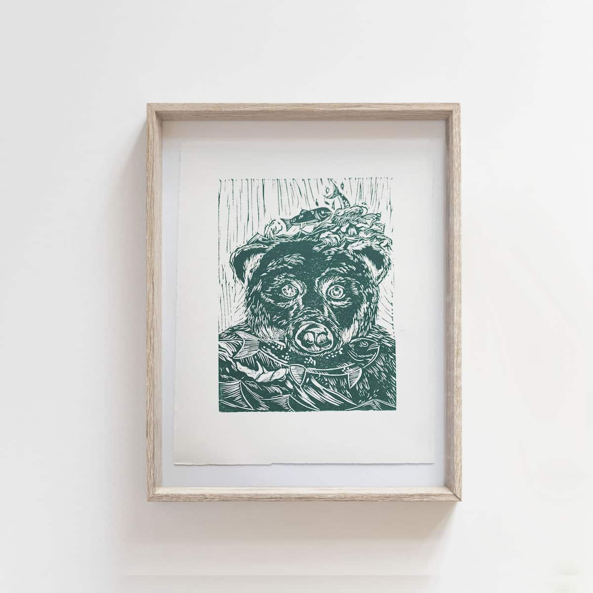 (Linoprint) What A Catch- By Jocelin Kan Meredith