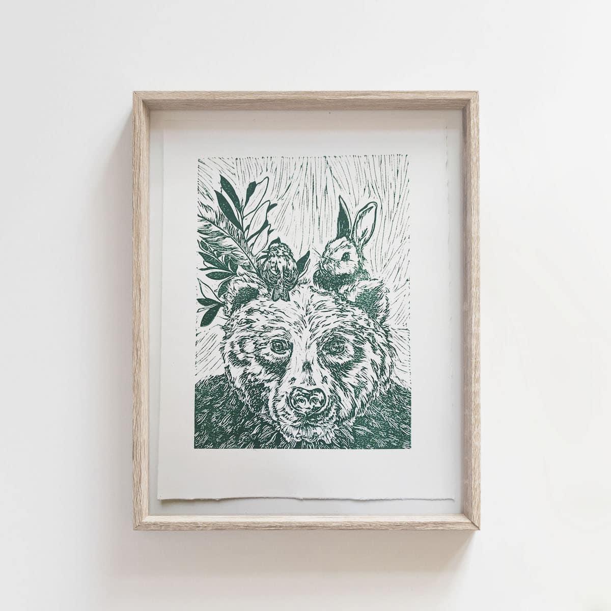 (Linoprint) The Perfect Trio – By Jocelin Meredith Artwork