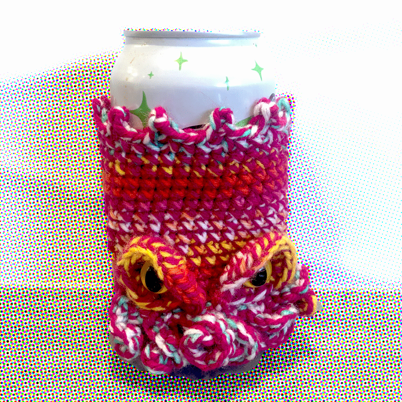 Cthulhu Pink Beer Cosy By Out Of My Mind Crochet