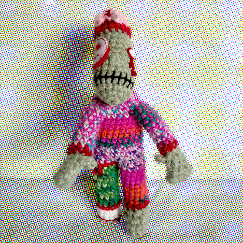 Zombino Pink By Out Of My Mind Crochet