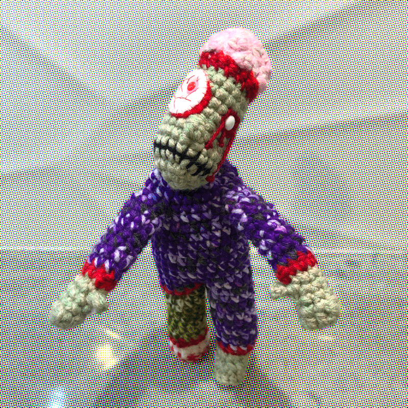 Zombino Purple By Out Of My Mind Crochet