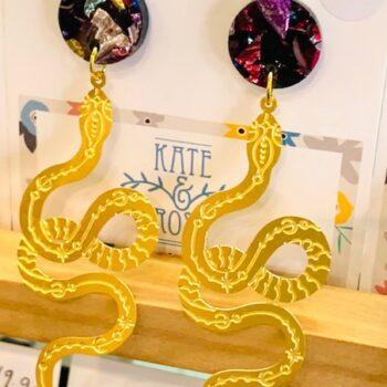 raw-brass-snakes-on-rainbow-acrylic-drop-earrings-by-kate-and-rose-katenrosetea-727228