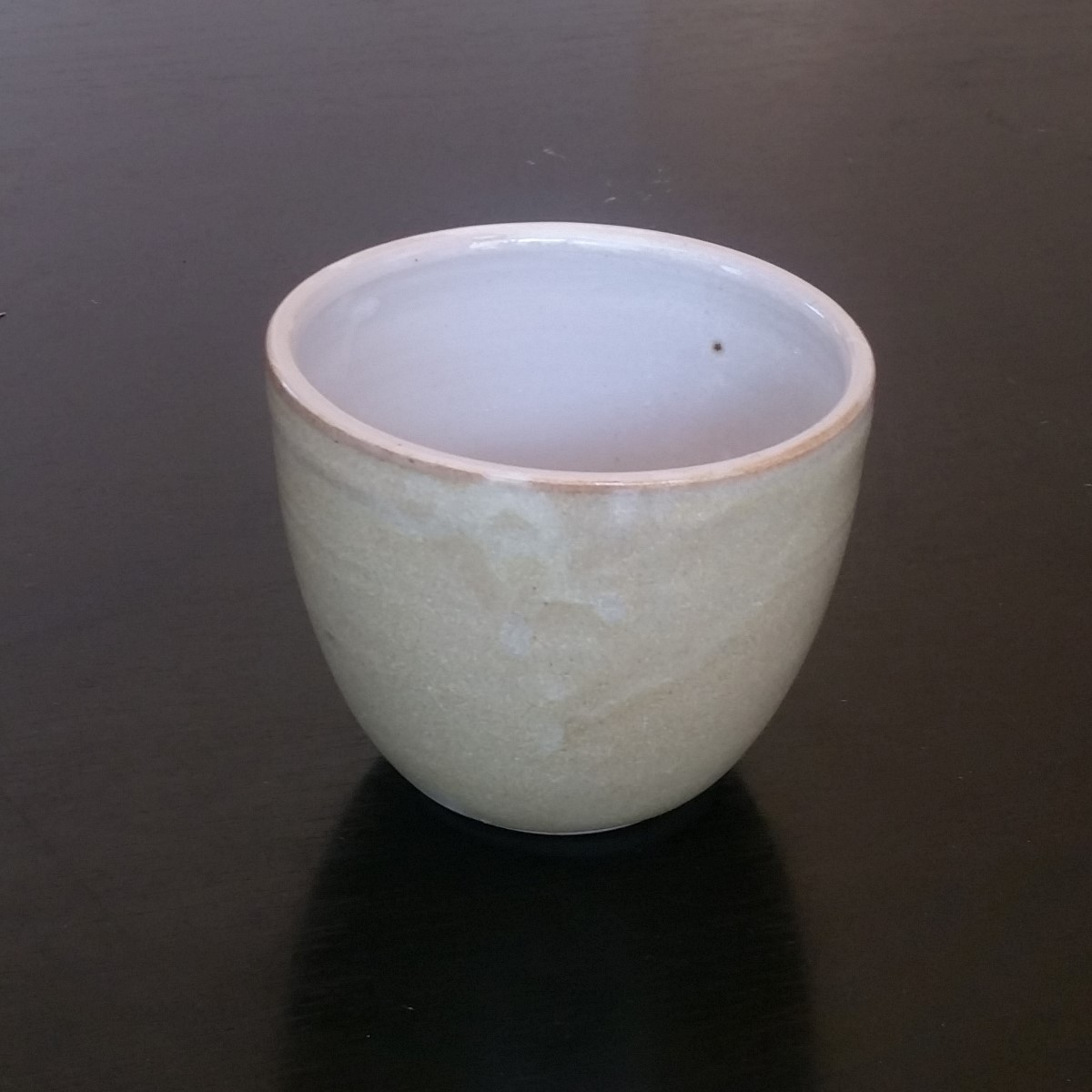 Beaker, Large Nestable In Nickel Yellow Glaze, By Clifton Hill Pottery