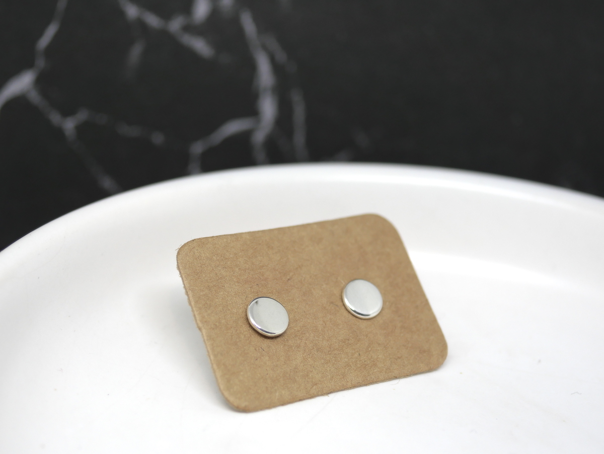 Tiny Dot Studs  – Handmade Sterling Silver Earrings By Purplefish Designs