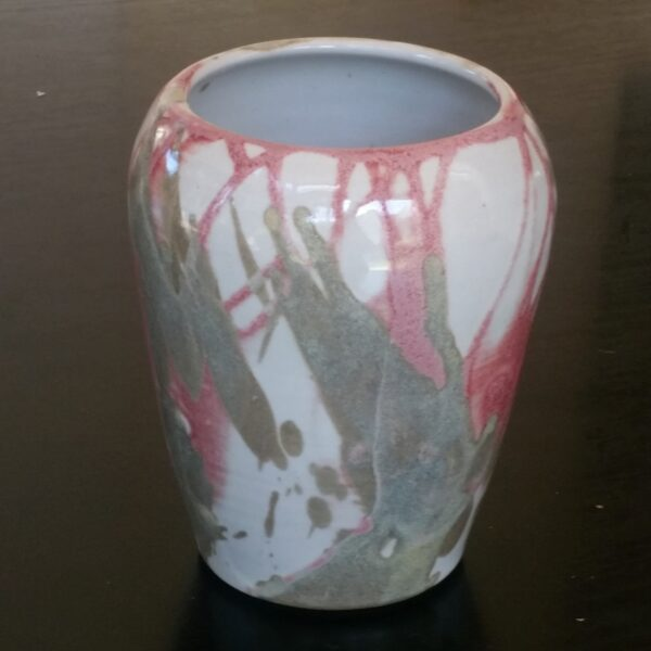 vase-pink-and-black-by-clifton-hill-pottery-by-Clifton Hill Pottery