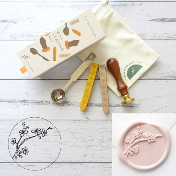 wax-sealing-set-wild-flower-stamp-wax-sticks-spoon-by-fiona-ariva-by-fionaariva