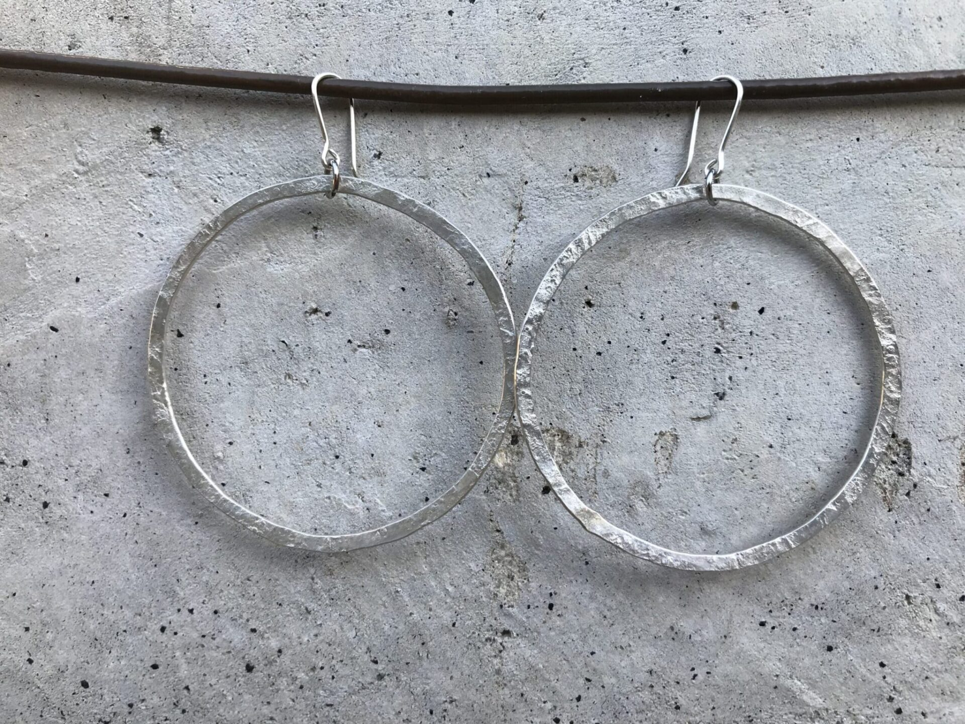 Silver Hoop Earrings By JekaKaat