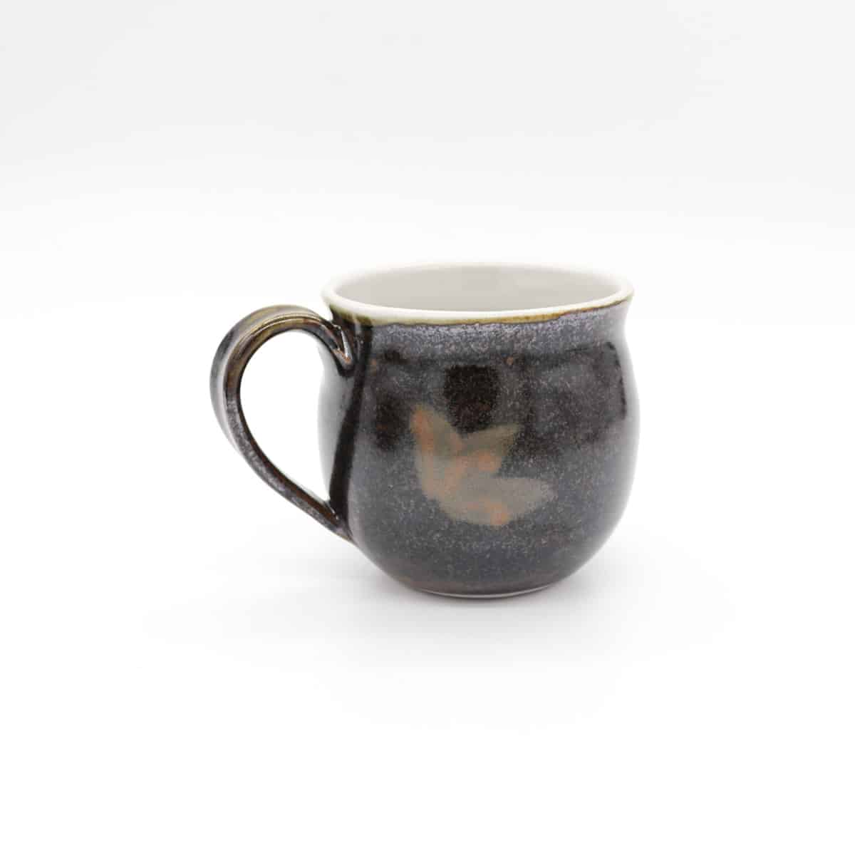 Shaped Ceramic Mug – Ash And Iron Glaze By Clifton Hill Pottery